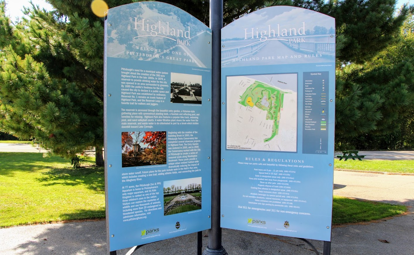 Highland Park Map, Highland Park Welcome Sign