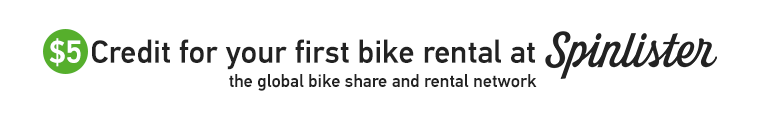 $5 Credit for your first bike rental at Spinlister.com: the global bike share and rental network